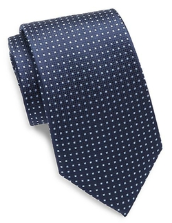 Square Grid Silk Tie by Yves Saint Laurent in House of Cards