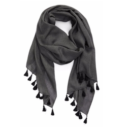 Tassel Trim Wool & Silk Scarf by Eileen Fisher in How To Get Away With Murder