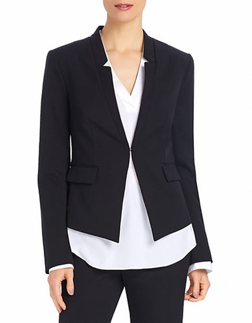 Fitted Collarless Blazer by Ellen Tracy in The Good Wife - Season 7 Episode 10