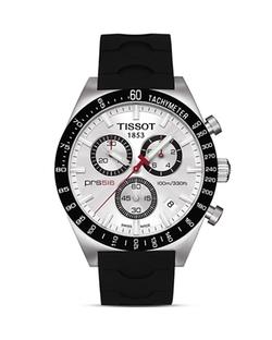 Silver Quartz Chronograph Sport Watch by Tissot in Ballers