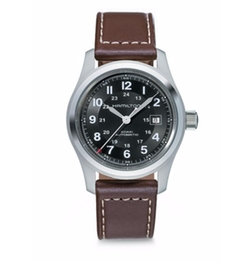 Khaki Field Leather Strap Watch by Hamilton in Bastards