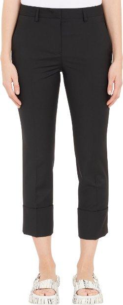 Deep-Cuff Cropped Trousers by Jil Sander in Begin Again