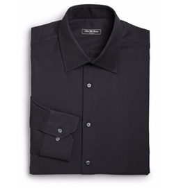 Classic-Fit Solid Dress Shirt by Saks Fifth Avenue Collection in Shadowhunters