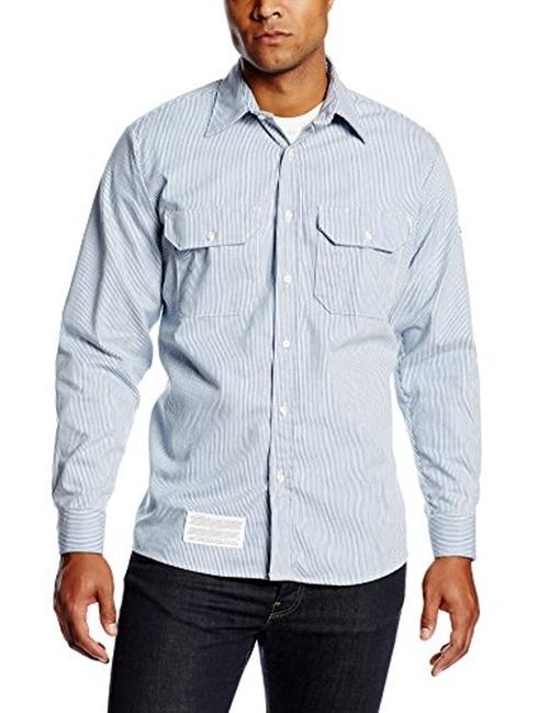 Flame Resistant Regular Striped Shirt by Bulwark in Gossip Girl - Series Looks