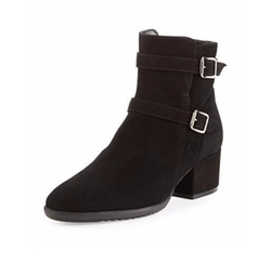 Fargo Suede Buckle Ankle Boots by Sesto Meucci in Rosewood