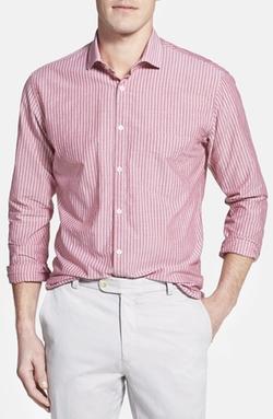 'John T' Standard Fit Stripe Sport Shirt by Billy Reid in Furious 7