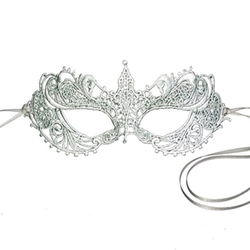 Silver Grey Lace Goddess Mask by Samantha Peach in Fifty Shades Darker