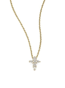 Tiny Treasures Diamond Mini Cross Pendant by Roberto Coin in Fast Five