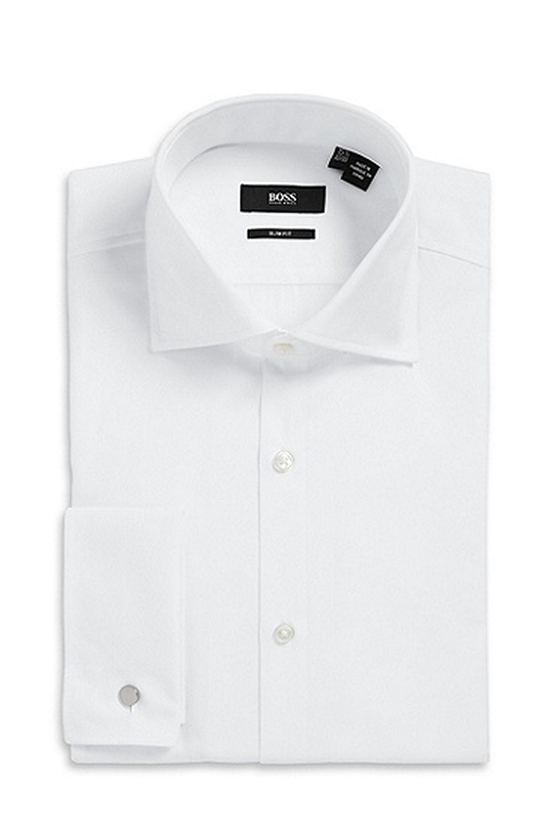 'Jacco US' Slim Fit French Cuff Dress Shirt by Boss Hugo Boss in Bridge of Spies
