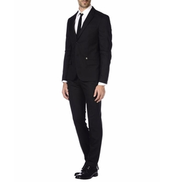 Lapel Collar Suit by Bikkembergs in New Girl
