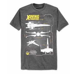 Star Wars X-Wing Fighter T-Shirt by Fifth Sun in Modern Family