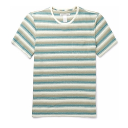 Striped Hemp & Organic Cotton-Blend T-Shirt by Outerknown in Love, Simon