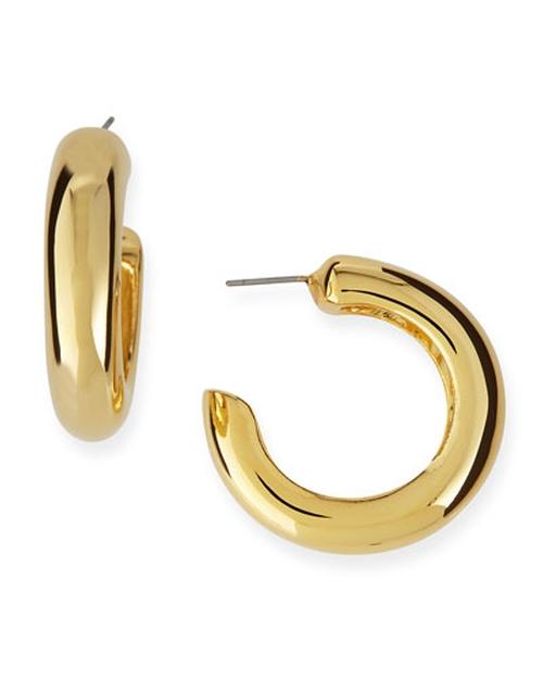 Hoop Pierced Earrings by Kenneth Jay Lane in Pretty Little Liars - Season 6 Episode 3
