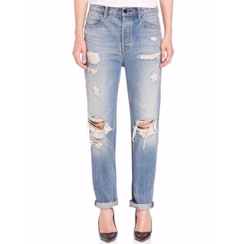 Distressed Boyfriend Jeans by Alexander Wang in Star - Season 1 Preview