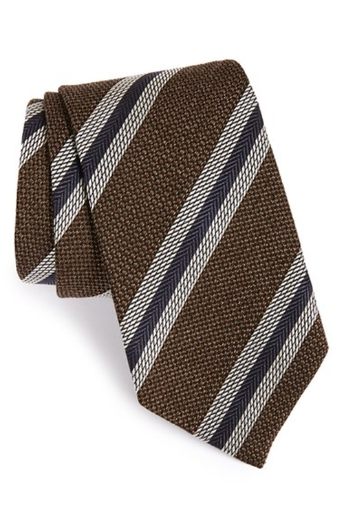 Stripe Silk Tie by David Donahue in Modern Family - Season 7 Episode 2