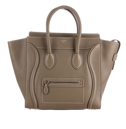 Mini Luggage Tote Bag by Céline  in Suits
