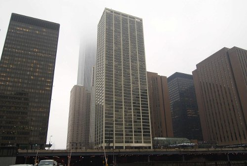 Columbus Plaza Chicago, Illinois in The Divergent Series: Insurgent