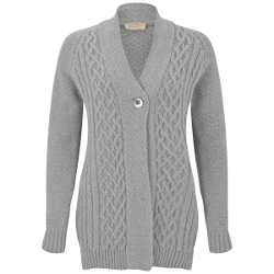 Moloko Cashmere Blend Cable Knit Cardigan by John Smedley in Before I Wake