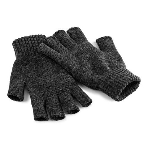 Unisex Plain Basic Fingerless Winter Gloves by Beechfield in Seventh Son