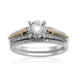 Diamond Sterling Silver Bridal Ring Set by JCPenny in Need for Speed