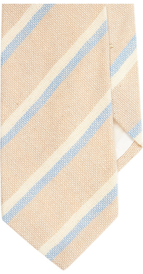Diagonal Stripe Knit Neck Tie by Petronius in Barely Lethal