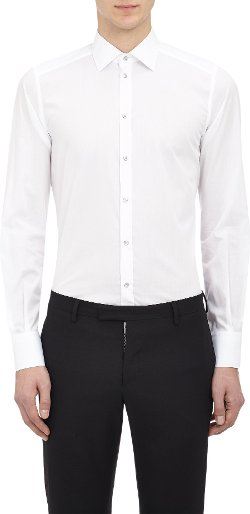 Gold Fit Dress Shirt by Dolce & Gabbana in Black or White