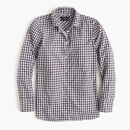 Mini Gingham Boy Shirt by J. Crew in Supergirl - Season 1 Episode 10