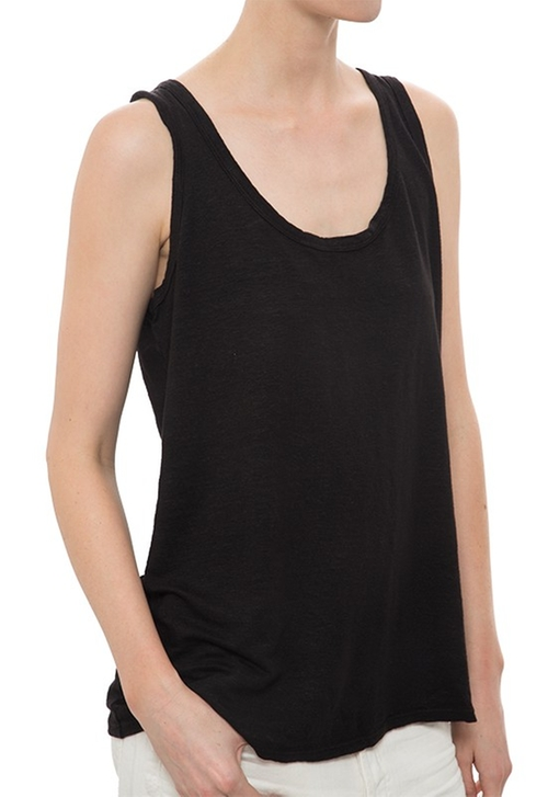 Linen Jersey Scoop Back Tank Top by CYNJIN in She's Funny That Way