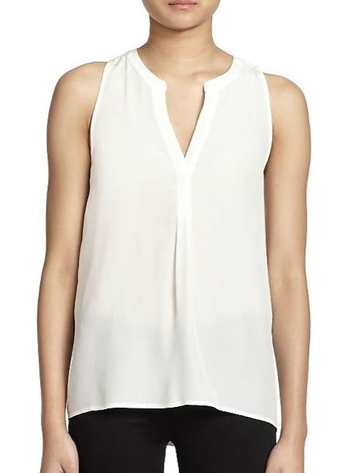 Aruna Silk Sleeveless Blouse by Joie in Ballers