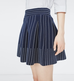 Josette Jacquard Skirt by Maje in Gilmore Girls: A Year in the Life