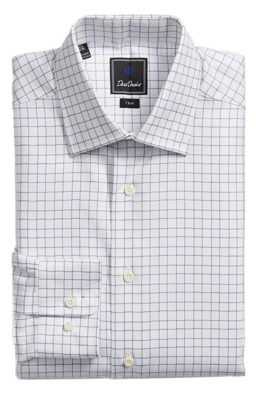 Trim Fit Check Dress Shirt by David Donahue in Ballers - Season 1 Episode 10