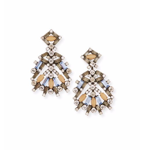 Bavaria Crystal Statement Earrings by Dannijo  in Scream Queens - Season 2 Episode 3