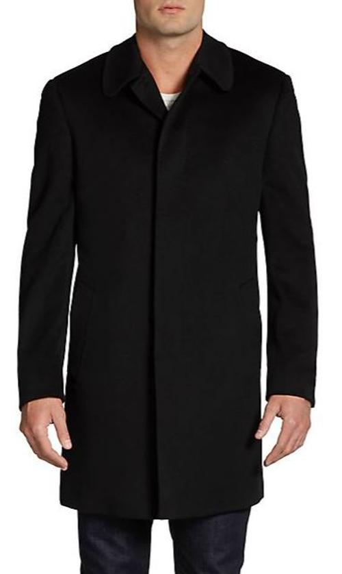 Wool Topcoat/Slim-Fit by Saks Fifth Avenue BLACK in Wish I Was Here
