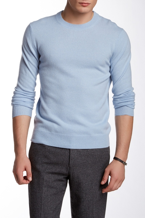 Cashmere Crew Neck Sweater by Quinn in Twilight
