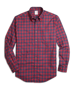 Flannel Check Sport Shirt by Brooks Brothers in Master of None