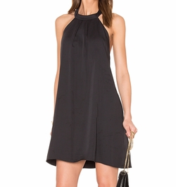 Black Woven Halter Dress by Bobi in La La Land