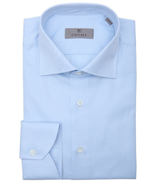 Cotton Spread Collar Dress Shirt by Canali in Valentine's Day