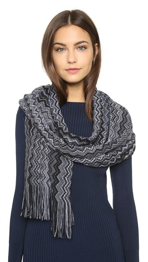 Knit Stole Scarf by Missoni in Love the Coopers