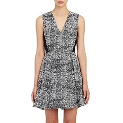 Tweed Fit & Flare Dress by Proenza Schouler in Empire