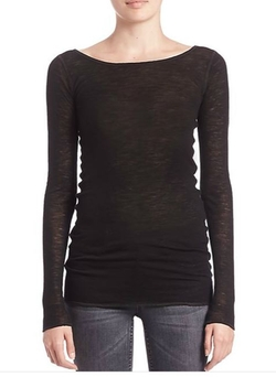 Sheer Long-Sleeve Shirt by Helmut Lang in Keeping Up With The Kardashians