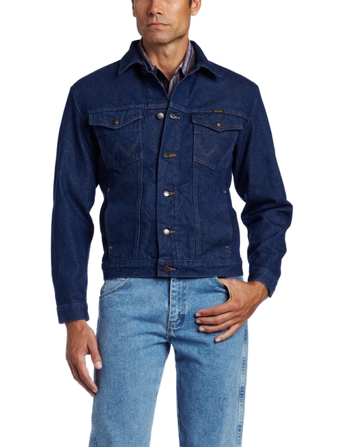 Rugged Wear Unlined Denim Jacket by Wrangler in The Ranch -  Looks