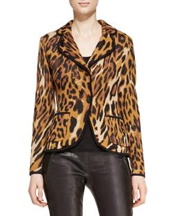 Long-Sleeve Leopard-Print Blazer by Escada in Lucy