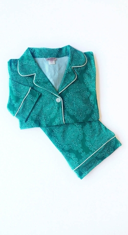 Jade Mandala Stretch Classic Pajama Set by Bedhead in The Mindy Project