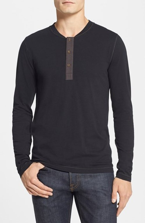 'Shooter' Long Sleeve Henley Shirt by French Connection in The Best of Me