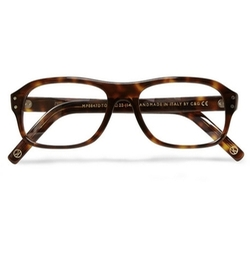 Tortoiseshell Acetate Square-Frame Optical Glasses by Cutler And Gross in Kingsman: The Golden Circle