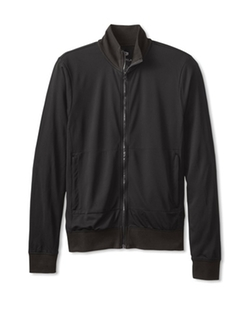 Number Lab Mock Zip Up Jacket by My Habit in Creed