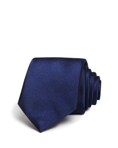 Solid Satin Skinny Tie by The Men's Store at Bloomingdale's in Dr. No
