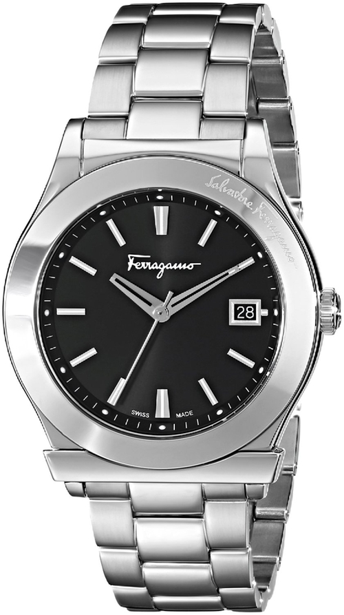 Analog Display Quartz Silver Watch by Salvatore Ferragamo in Suits - Season 5 Episode 3