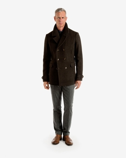 Herringbone Wool Peacoat by Ted Baker in The Mindy Project