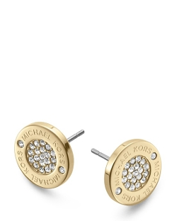 Pavé Logo Stud Earrings by Michael Kors in Southpaw
